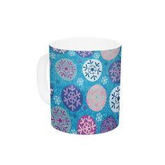 Artist Products #blue #christmass #holidays #snowflakes #pattern #homedecor #mug #coffee #kessinhouse
