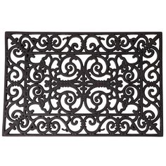 Astoria Grand Bring a touch of rustic elegance to your garden with this rubber doormat, showcasing an intricate stylised pattern. Perfect teamed with natural stone paving and wrought iron patio furniture to complete the look. Mat Size: Rectangle 40 x