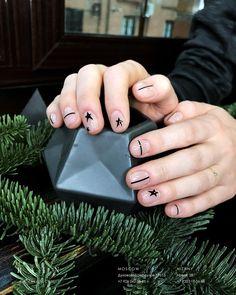 Simple geometric nail art 2018