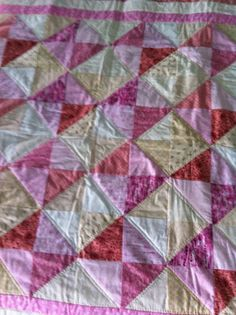 Baby quilt for a precious girl.
