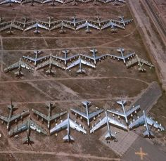 The Bone Yard near Davis Monthan Air Force Base in Tucson, Arizona is not privately owned in fact it belongs to the military. These locations are selected for the boneyards in the deserts are due t… Us Navy, Strategic Air Command, Grand Canyon, Colorado, B 52 Stratofortress, Air Force Bases, Military Aircraft, Military Jeep, Military Women