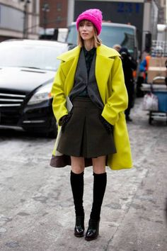 Neon coat womenstyle