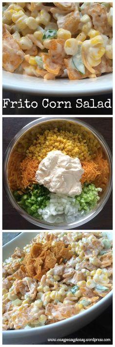 Perfect Potluck Salad Frito Corn Salad is great for potlucks, BBQ, and parties.Frito Corn Salad is great for potlucks, BBQ, and parties. Frito Corn Salad, Corn Salads, Potluck Salad, Masterchef, Summer Salads, Summer Bbq, Soup And Salad, Pasta Salad, Side Dish Recipes