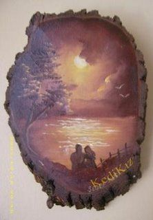 [a.hsvg] Wood Burning Crafts, Wood Burning Art, Wood Crafts, Diy And Crafts, Watercolor Painting Techniques, Painting On Wood, Decoupage, Circle Canvas, Bob Ross Paintings