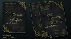 How to make creative wedding invitations cover in photoshop 2003 create a chalkboard and ornament style wedding invitation card in photoshop stopboris Choice Image