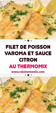 Varoma fish fillet and lemon sauce with thermomix - Recette.- Varoma fish fillet and lemon sauce with thermomix – Recette Thermomix – - Greek Recipes, Meat Recipes, Crockpot Recipes, Snack Recipes, Smoothie Recipes, Dinner Recipes, Easy Healthy Recipes, Healthy Snacks, Guacamole Recipe Easy