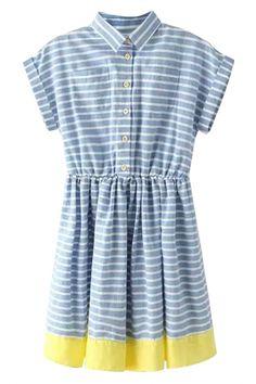 School Gal Striped Print Mini Dress