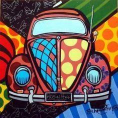 VW Volkswagon Beetle pop art illustration ◆F&I◆ Retro Kunst, Retro Art, Comic Kunst, Comic Art, Art And Illustration, Modern Pop Art, Art Graphique, Art Plastique, Art Lessons