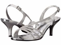 9f9a81589d9741 Caparros Womens Bethany Bridal Silver Rhinestone Straps Heeled Sandals 11