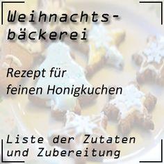 Honig spielt in der Adventzeit eine Hauptrolle - ein Rezeptvorschlag ist der feine Honigkuchen #rezepte #honig #weihnachtsbäckerei Food, Honey Cake, Gingerbread Recipes, Bakken, Essen, Meals, Yemek, Eten