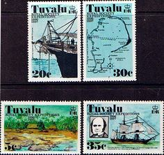 Postage Stamps Tuvalu 1977 Royal Society Expeditions Set SG Scott Fine Mint Other European and British Commonwealth Stamps HERE! Ellice Islands, International Date Line, Polynesian Islands, Royal Society, South Pacific, Commonwealth, Postage Stamps, New Zealand, Postcards