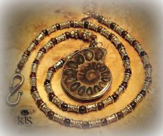 Golden Tiger's Eye and Silver Beaded Necklace by KLSCustomJewelry, $60.00