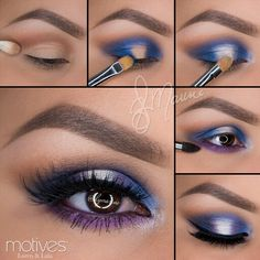 Best Ideas For Makeup Tutorials Picture DescriptionImage via How to Apply Smokey Eyeshadow Step by Step Image via See make-up ideas Step by Step. Make-up in purple and blue tones. Image via Make-up lessons for beginners as beautif Eye Makeup Pictures, Eye Makeup Tips, Makeup Hacks, Makeup Inspo, Makeup Inspiration, Beauty Makeup, Makeup Ideas, Beauty Tips, Makeup Trends