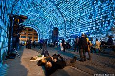 Dumbo Art Festival Mapping - Brooklyn