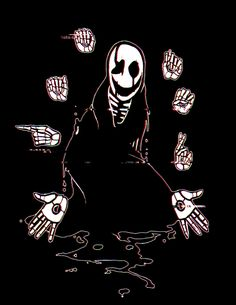 The mysterious W.D. Gaster, from Undertale.