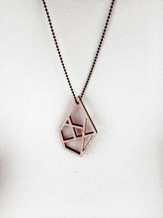 Plywood Diamond Necklace // byanouk.tictail.com