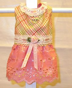 DOG HARNESS DRESS Peaches and Cream-Last One-Limited Sizes. $12.00, via Etsy.