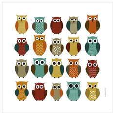 I love owls, they to totally remind me of my grandparents and a picture they had at our camp. Oh the memories!
