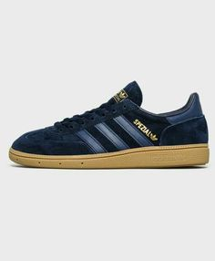 Spezials in Navy suede with leather trim - understated and classy