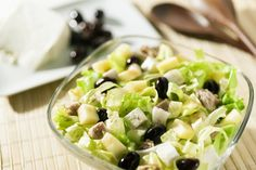 Salade aux pommes et olives