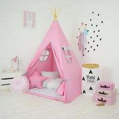 Tipi instellen Kids Play Tent Tipi Kid Play Tipi door MamaPotrafi