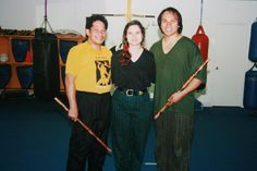 Grand Master Ernesto Presas founder of Kombatan Arnis, with Punong Guro Roland Ferrer and Aurora Ferrer Sword Fight, The Grandmaster, Performing Arts, Filipino, Martial Arts, Aurora, Fashion, Moda, Fashion Styles