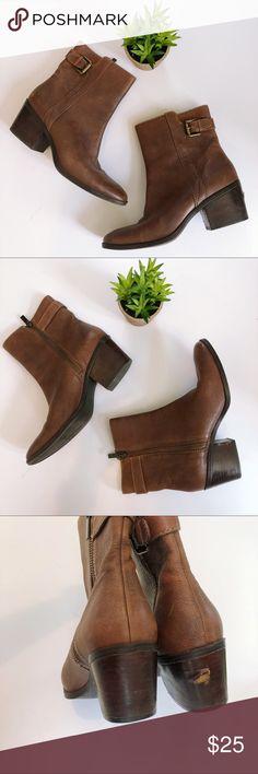 PAUL GREEN Diandra Brown Ankle Zipper Booties 7 My Posh Picks