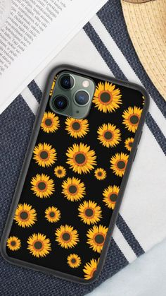 Sunflower Pattern, Yellow Sunflower, Yellow Flowers, Iphone Cases For Girls, Cute Phone Cases, Sunflower Drawing, Beauty Portrait, Creative Activities, Xmas Ideas