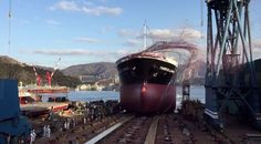 The launch of mv Thorco Lanner
