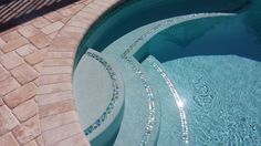 Awe-inspiring Glass Tile for Pool Steps with Iridescent Glass Mosaic Tile Sheets also Bullnose Pavers Pool Coping from Pool Tiles, Pool Decks, Pool Coping