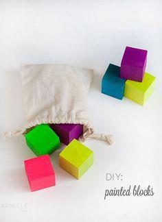 Armelle Blog: diy: custom colored blocks ...