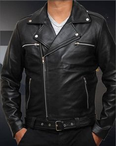 MEN'S LEATHER WALKING DEAD NEGAN JACKET: Leathernjackets bring yet another astonishing fashion edition to it's online shop as Negan Jacket from the famous TV series The Walking Dead in which the role of Negan Scout was done by Jeffrey Dean Morgan, who has worn this leather jacket in the drama series. This Negan men's police jacket is made up of 100% genuine leather, the high quality and long lasting material used in it makes it a durable product to purchase.