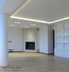 plafond lumineux led couleur chaude polycarbonate encastré design interieur luxe moderne menuiserie agencement Hegenbart