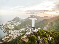 The Christ the Redeemer statue has loomed over Rio de Janeiro, Brazil, from upon Corcovado mountain since 1931.