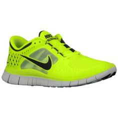 15% OFF! Hurry!  Nike Free Run + 3 - Men's - Running - Shoes - Volt/Pure Platinum/Reflect Silver