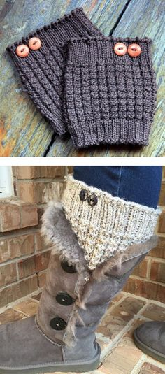 Boot Cuffs Free Knitting Patterns Pinterest Boot Toppers