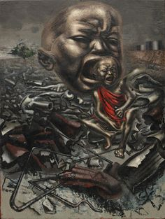 One of the most powerful works of art I have ever seen. Echo of a Scream, David Alfaro Siqueiros.