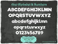 Ace Alphabet and Numbers in .SVG .EPS .DXF & .Studio3 formats Craft Cut Die Cutters Digital Vector Files Instant Download by TheSVGFontStore on Etsy
