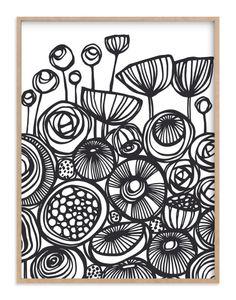 Flower art - pop art flowers art print by gill eggleston Sgraffito, Silkscreen, Posca Art, Linoprint, Linocut Prints, Art Plastique, Pattern Art, Pattern Flower, Art Flowers