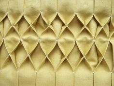 DIY: honeycomb pleating :-)