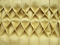 DIY: honeycomb pleating