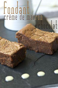 les petits plats de trinidad: Fondant crème de marron et chocolat, réédit car c'est une tuerie !