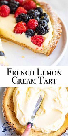 Citrus Tart Recipes, Lemon Desserts, Homemade Desserts, Lemon Recipes, Just Desserts, Sweet Recipes, Delicious Desserts, Dessert Recipes, Yummy Food
