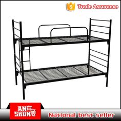 Latest Design School Furniture Double Metel Bunk Bed For Dormitory And Military
