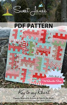 Key to my Heart Downloadable PDF Quilt Pattern Sweet Jane's Quilting and Design - Fat Quarter Shop