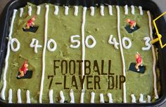 Football 7-Layer Dip via momendeavors.com #football #superbowl