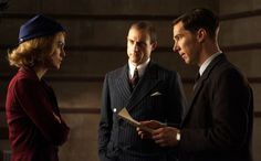 """""""The Imitation Game"""" movie still, L to R: Keira Knightley, Mark Strong, Benedict Cumberbatch. The Imitation Game 2014, Allen Leech, Mark Strong, Matthew Goode, Alan Turing, Movies 2014, Benedict Cumberbatch Sherlock, New Clip, Keira Knightley"""