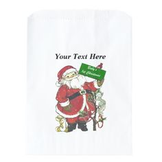 Baby's First Christmas Cute Santa Sign Favor Bag