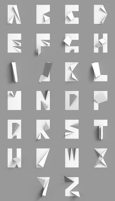 Tipo de papel doblado {en blanco y negro} | Type, Typography, de letras, Fuentes | Scoop.it