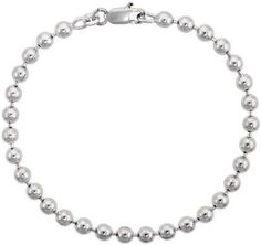 Sterling Silver Italian Pallini Bead Ball Chain Necklace 5mm.  #necklace #jewelry
